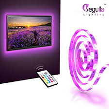 megulla bias tv lighting kit accentambient tv lighting precut usb led rgb strip lights accent ambient lighting