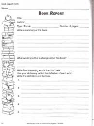 book report worksheet book studies teaching book report worksheet