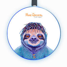 <b>HIPPIE SLOTH</b> - WIRELESS PHONE CHARGER - MAREE DAVIDSON