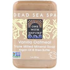 One with Nature, <b>Triple Milled Mineral Soap</b>, Vanilla Oatmeal, 7 oz ...
