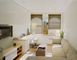 delightful design ideas of living space nyc with beige colored sofa with chaise also rectangle shape apt furniture small space living
