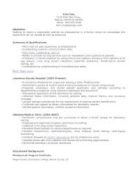 phlebotomy resume help phlebotomy resume