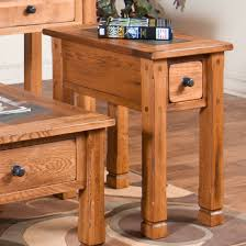 designs sedona table top base: sunny designs ro cs sedona quot chair side table in rustic oak
