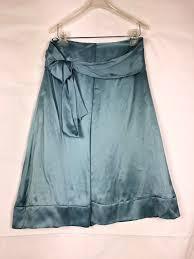 Hugo <b>Boss</b> Women's 100% Silk Skirt size 4 Blue Belted 1065 ...