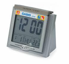 Casio <b>Digital Travel</b> Thermometer Alarm Clock <b>Snooze</b> Calendar Dq ...