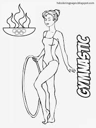 Gymnastics Coloring Sheets Related Gymnastics Coloring Pages Item