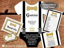 little man baby shower invitation onesie gentleman bow tie little man baby shower invitation onesie gentleman bow tie black gold editable pdf invite book thank you cards diaper raffle game