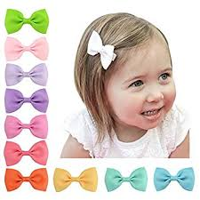 ONLINE MONK Baby Girl's Solid Candy Colours <b>Grosgrain Ribbon</b>
