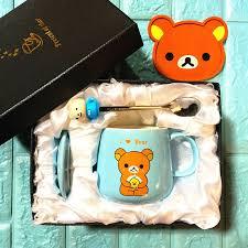 OUSSIRRO <b>Cute Creative Cat Kitty</b> Ceramic Mugs Cup Tea Cup ...