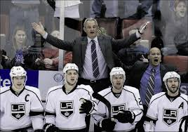 darryl sutter a man of few words but kings success speaks for itself los angeles kings head coach darryl sutter reacts after the detroit red wings were awarded the