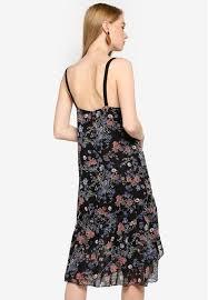Jual Hopeshow <b>Spaghetti Strap Floral</b> Midi Dress Original   ZALORA ...