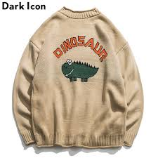 Dinosaur Lovely <b>Sweater Men 2018</b> Winter <b>Pullover Men's Sweaters</b> ...