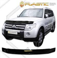 <b>Дефлектор капота</b> Mitsubishi Pajero (2007–) (<b>Classic</b> черный) 216 ...