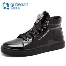 <b>GUDERIAN</b> New Fashion High Top Casual <b>Shoes</b> For <b>Men</b> Lace Up ...