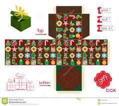 printable gift box christmas season stock vector image  printable gift box christmas season