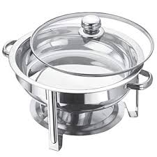 4.5 Litre <b>Stainless Steel Round</b> Chafing Dish Set <b>Round</b> Table TOP ...