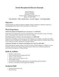 resume sample receptionist cv examples medical receptionist resume sample resume for receptionist medical office sample customer