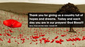 Image result for IMAGES of remembering our Veterans and soldiers in Canada