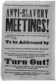 underground railroad primary source set anti slavery meetings