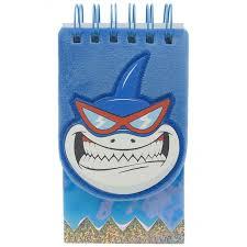 <b>Mihi Mihi Блокнот плюшевый</b> на кольцах Акула - Акушерство.Ru