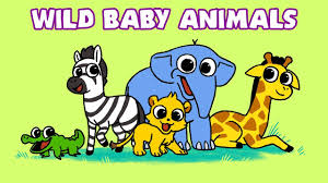 Learn Wild <b>Animals</b> | <b>Baby Animal</b> Names | <b>Newborn</b> Safari Zoo ...