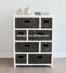 white storage unit wicker: white wood wicker storage basket drawer cabinet furniture hobby lobby