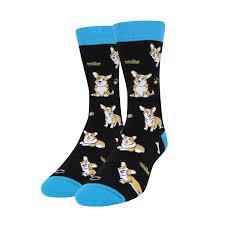 Zmart <b>Men's</b> Corgi <b>Dog</b> Pug Crew Casual Socks, <b>Funny</b> Novelty ...