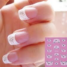 fashion <b>French</b> style <b>Crystal</b> Water Transfer Nails Art Sticker decals l
