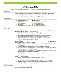 unforgettable freight associate resume examples to stand out    freight associate resume sample
