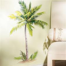 palm tree wall stickers: wallies palm tree wall stickers mural  decals tropical leaves decor