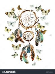 love paint butterfly decor illustration watercolor painting dream catcher with feathers and butterflies watercolor ethnic dreamcat