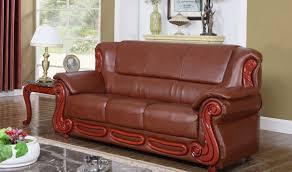 bella traditional living room set  meridian  bella traditional living room set in brown sofa