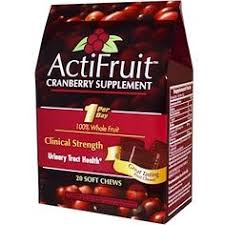 Nature's Way, <b>ActiFruit</b>, <b>Cranberry Fruit Chew</b>, 20 Soft Chews | Клюква