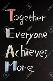 team acronym together everyone achieves more teamwork stock photo team acronym together everyone achieves more teamwork motivation concept of chalk handwriting on a blackboard