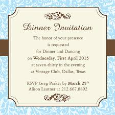 Wedding Invitation. Ideas Invitation to A Dinner Party Wording ...