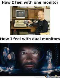 Dual Monitors by chevistan - Meme Center via Relatably.com