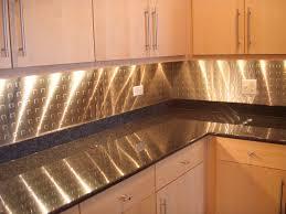 size silver tin backsplash kitchen
