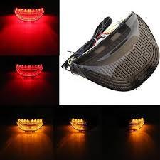 For Honda CBR 600 RR LED <b>Tail Light Smoke</b> Lens <b>Integrated Turn</b> ...