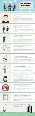 tips for job hunting etiquette ly 9 tips for job hunting etiquette infographic