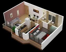 Small Picture small house plan in 3d with three bed rooms top view 3d virtual