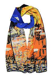 Elegna 100% <b>Luxurious Silk Scarf</b> Van Gogh Famous Painted Scarves