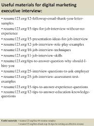 top  digital marketing executive resume samples       useful materials for digital marketing executive