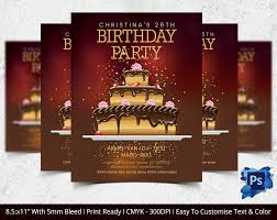 birthday flyer template 31 psd ai vector eps format customisable birthday party invitation template