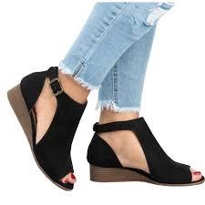 <b>Women's Summer</b> Comfort Sandals Wedge Heel Roman Sandals ...