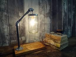 diy mason jar lights diy mason jar lighting rustic industrial chic desk lamp barnwood pipe mason austin mason jar pendant lamp diy