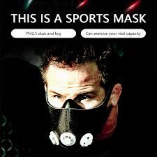2020 PM2.5 Sports Oxygen Mask <b>Riding</b> Training Spirometry ...