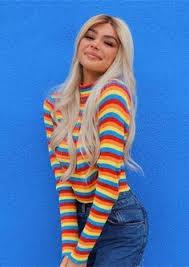 <b>Rainbow Stripe</b> Knit <b>Crop Sweater</b> | Fall & Winter Outfit Ideas in ...