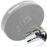 <b>Baseus</b> Rainbow <b>Circle Velcro</b> Straps 1m Grey - Cable Organiser ...