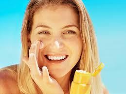 Resultado de imagem para foto de rosto protetor solar