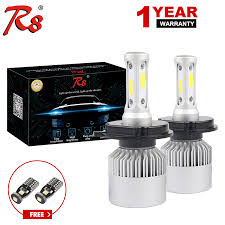 <b>R8 2Pcs</b> 6000K 8000LM H11 <b>H4</b> LED <b>H7</b> H1 9005 HB3 9006 HB4 ...